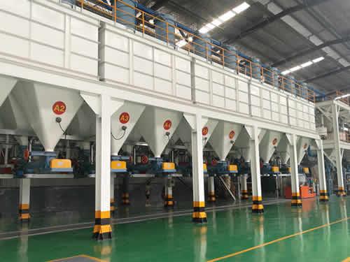 用于粉末材料处理的自动配料系统